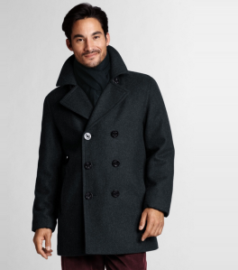 Land's End Dark Grey Pea Coat