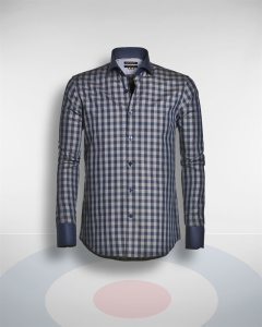 Blue Industry Contrast Cuff Blue Check Shirt